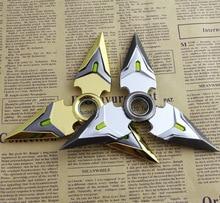 Вл гэндзи shuriken цинка оружие рождественский модель сплава брелок подарок дети