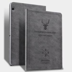 Для HUAWEI MediaPad T3 10 кожаный чехол с откидной крышкой Смарт ультра тонкий высокое качество с ПК + PU держатель для 9,6 дюймов ПК планшета