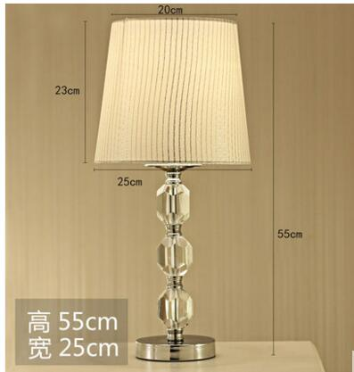 Decorative table lamp. Bedside lamp. Crystal desk lamp. Wedding creative bedside lamp