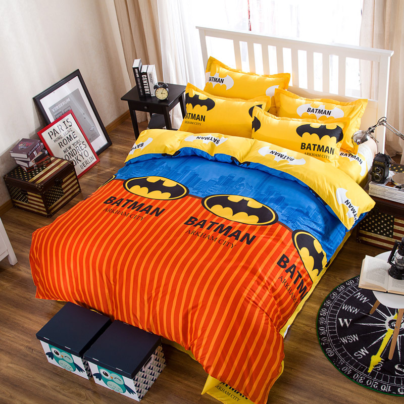 4pcs Bedding Set Home Textile Cartoon Cartoon Superman