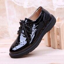 Boys Children Leather Shoes Student School Shoes