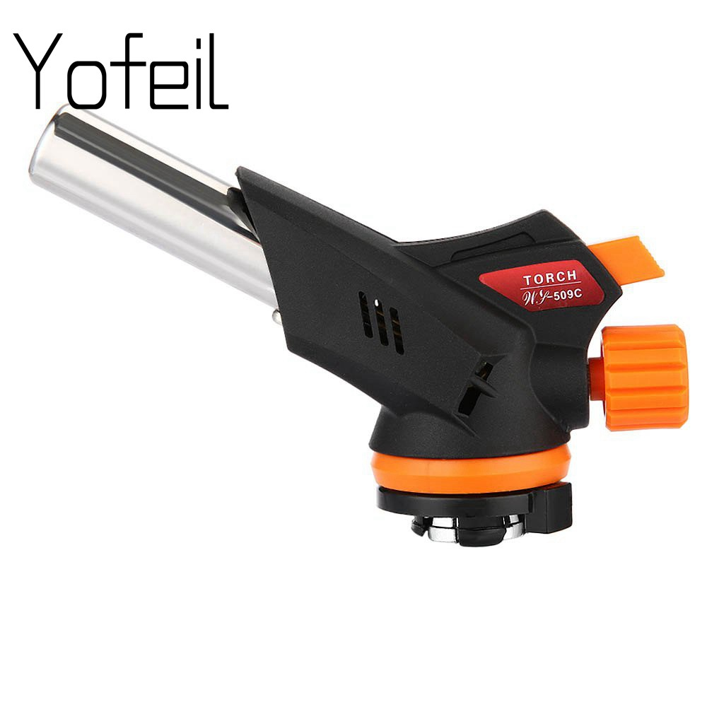 yofeil Welding Gas Torch 509C Blow Gas Torch Burner Flamethrower Butane Burn Auto