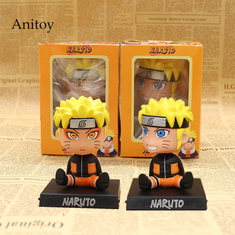 Anime Naruto Bobble Head Action Figure Uzumaki Naruto Phone Holder PVC Action Figure Collectible Toy 12cm KT3728 hot anime naruto 4th hokage namikaze 6 action figure collectible pvc model gift toy