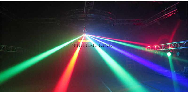 2019 neue LED DMX 8*12W strahl licht farbige dj club RGBW Scan Bühne Effekt Beleuchtung disco hochzeit profesional laser licht