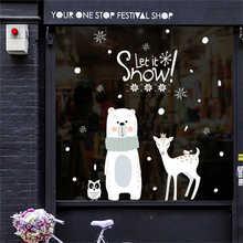 2019 Cartoon Santa Claus Wand Aufkleber Wand Kunst Abnehmbare Hause Aufkleber Party Decor Frohe Weihnachten Fenster Film Aufkleber