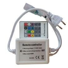 10 компл./лот 20 клавиш IR 6A 600 Вт AC 220 В 110 В RGB контроллер 6 режимов дополнительно для 50 м rgb светодиодные ленты
