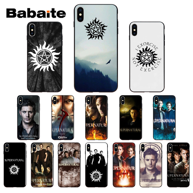 Babaite TV Show Supernatural Silicone Soft TPU black Phone Case for iPhone 7 8 X XS MAX 6 6s 7plus 8Plus 5 5S SE XR image