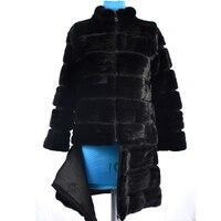 2018 real mink fur coat jacket transformer removable detachable bottom women natural fox fur coat thick warm street style