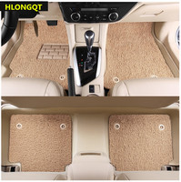 HLONGQT Auto Floor Mats For Nissan Murano 2014 2018 Foot Carpets Mat High Quality Water Proof leather Wire coil 2 Layer