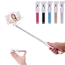 High quality Portable Extendable Handheld Wired Mini Selfie Stick Monopod Universal  for Iphone samsung Android Smartphone