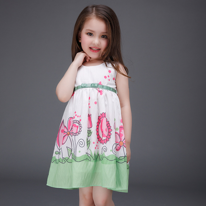 Подробнее о Baby Girl Clothes Princess Dress Summer 2017 Brand Toddler Girls Dresses Floral Print Kids Prom Dress for Girls Children Dresses girl dress summer 2016 brand children costumes for girls kids clothes floral print little girls dresses princess costume 2colors