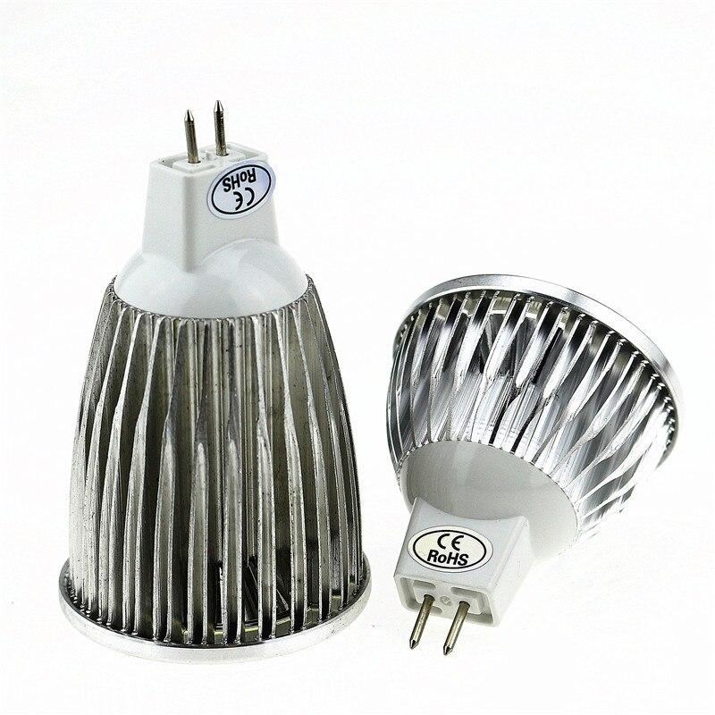 50X Супер Яркий Светодиодный точечный светильник MR16 12 V Коб 9 Вт, 12 Вт, 15 Вт, Светодиодный лампа warmcool белый светодиодный светильник - 4