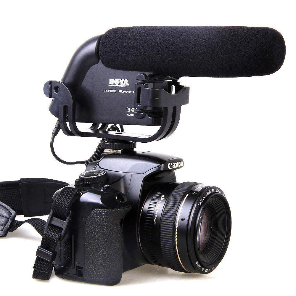BY-VM190 Shotgun Condenser Microphone for Canon Rebel T6s T6i T5i T4i 7D 6D 800D 760D 750D 700D 650D 200D 80D 77D 5D II/III/IV