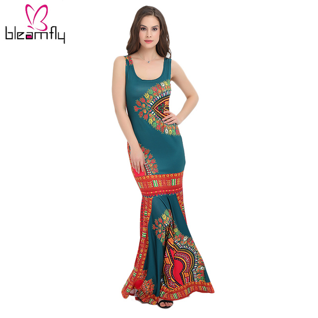 Women Dashiki African Design Summer Dress
