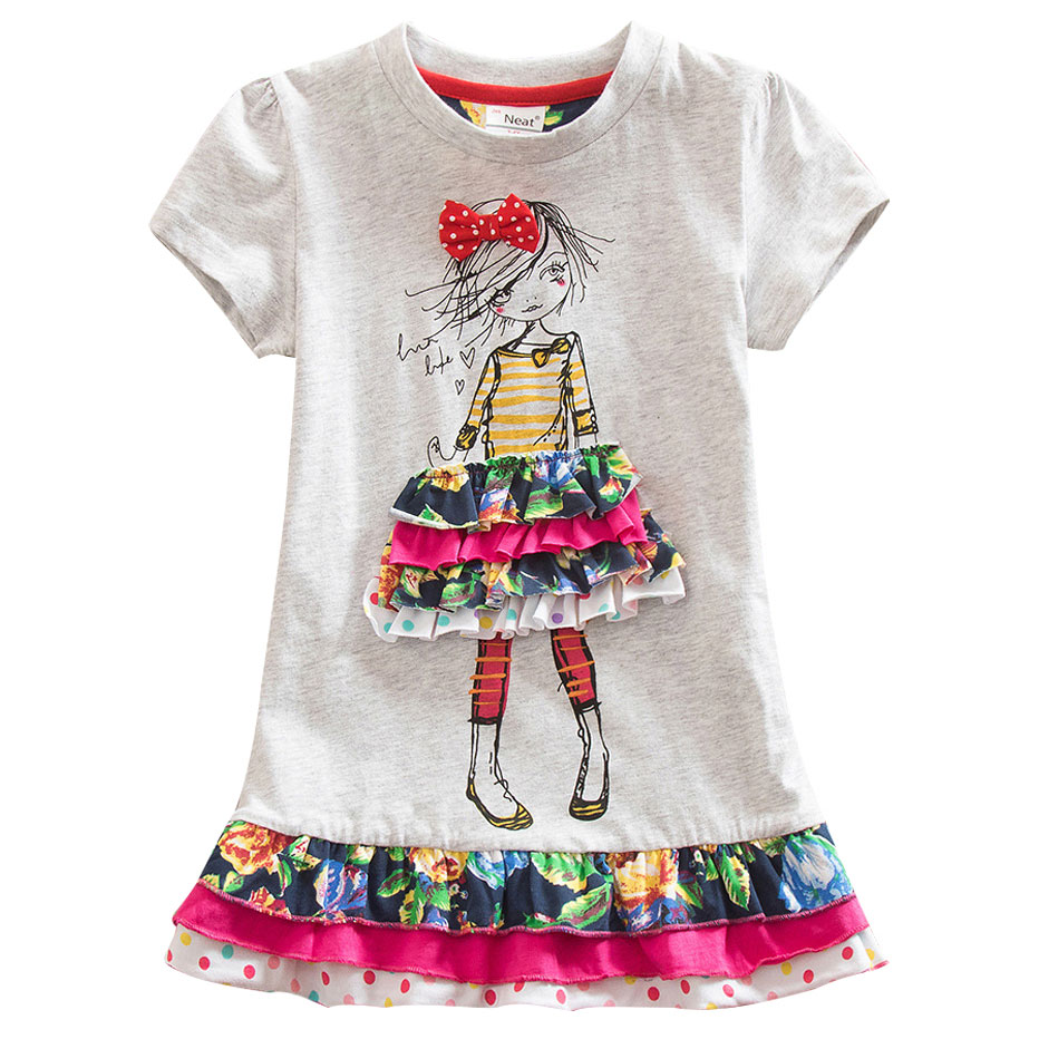 fb14d6cfef Girls Dress Summer 2018 New My Kids Dress Big Bow And Embroidery animal  Flower Girls Princess Children Dress Baby Girls Vestido