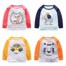 V-TREE г. весенние футболки для девочек с длинными рукавами футболка с персонажами из мультфильмов для мальчиков детские хлопковые футболки топы для девочек футболки для малышей