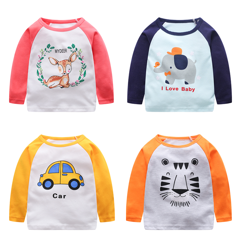 V-TREE 2016 spring t-shirts for girls long sleeve girl shirts cartoon boys t-shirt cotton children t shirts girls tops baby tees free shipping new big john hollow 12 strings electric guitar with mahogany body for jazz music f 3022