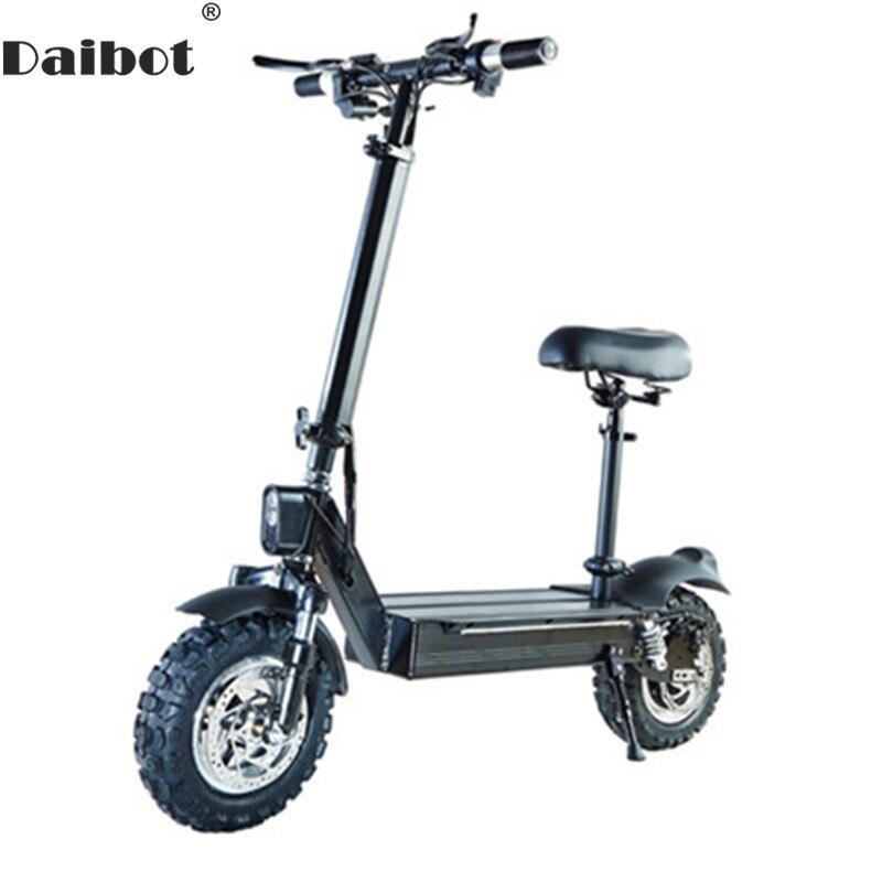 Nouveau Scooter électrique imperméable à l'eau 1000 W 11 pouces Scooters électriques hors route Scooter électrique avec siège adultes