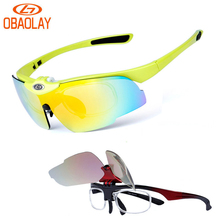 OBAOLAY Bicycle Sunglasses Cycling Polarized Glasses Sport Bike Eyewear Gafas Occhiali Ciclismo Flip Lens myopia Frame Glasses