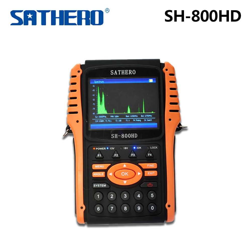 Original Sathero SH-800HD DVB-S2 800HD Digital Satellite Finder Meter HDMI Output Sat HD with Spectrum Analyzer original dvb t satlink ws 6990 terrestrial finder 1 route dvb t modulator av hdmi ws 6990 satlink 6990 digital meter finder