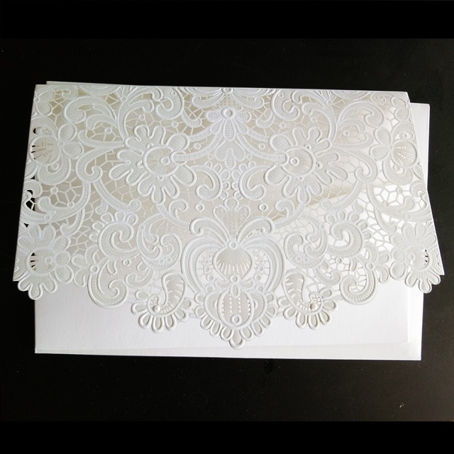 aliexpress com buy white laser cut wedding invitations cards free
