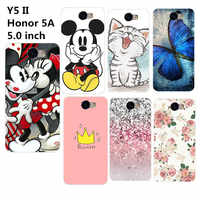 Per Huawei Cassa Molle Del Silicone di TPU Per Huawei Y5 Y5II II Y6 II compatto Y 5ii/Y 5 II CUN-U29 CUN-L21 CUN-L01 Honor 5A Carino casi