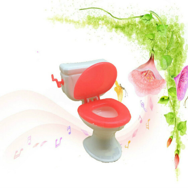 2 Items=Cute Doll Closestool+Washbasin Toilet Wash Devices Dollhouse Furniture Bathroom Set For  and  for Kelly dolls 4