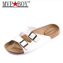 MVP BOY Men shoe sandals flip flops slippers Unisex Lovers Cork Male Summer Beach Flip Casual sandalias chine Plus Size 35-46 uexia new big size 36 45 men summer shoes beach lovers unisex flip flops mens slippers lighted sandalias outdoor chanclas hombre