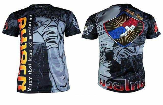 Ruam Penjaga Pria BJJ Jersey Lengan Pendek Rashguards MMA Muay Thai Kaos Wushu Melawan Camiseta Muay Bahwa kickboks Baju 2019