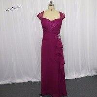 Plum Purple Plus Size Mother Of The Bride Lace Dresses Elegant Formal Long Evening Gowns Vestidos