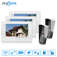 JeaTone NEW 7 Inch LCD TFT Color Video Door Phone Intercom System 1200TVL Outdoor Camera IR