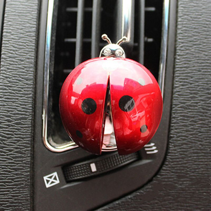 The Cheapest Price Car Ornament Abs Ladybug Decoration Perfume Clip Air Purifier Cute Automobiles Interior Fragrance Essential Oil Diffuser Gifts Famous For High Quality Raw Materials And Great Variety Of Designs An Full Range Of Specifications And Sizes