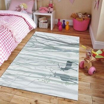 Nordic bedroom carpet family living room carpet modern tea table bedside pattern printing mattress area rug for living room