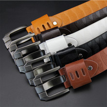 New Fashion Mens PU Leather Belts Designer Belt for Man Vintage Pin Buckle Strap Business Casual Male