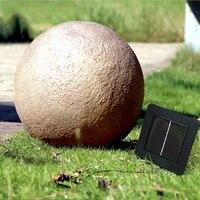 35cm Simulation Resin Stone Solar panel LED Spike Light Landscape Garden Yard Path Lawn Solar Lamps Outdoor Grounding Sun Light