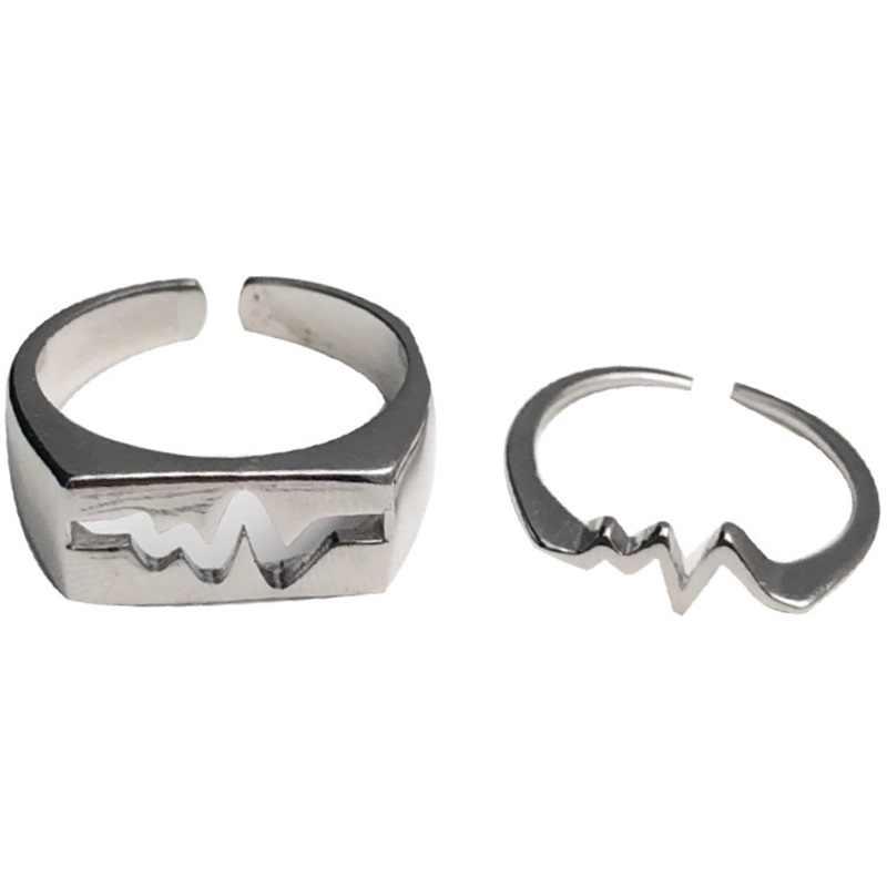 OMHXZJ ขายส่งยุโรปผู้หญิงผู้หญิงแฟชั่นผู้หญิงงานแต่งงานของขวัญเงินหัวใจเต้นเปิด 925 เงินสเตอร์ลิงแหวน RR288