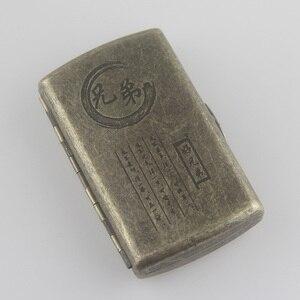 Image 2 - Новый металлический чехол для сигарет, карман для хранения, контейнер для испарителя IQOS, мини держатель для сигарет