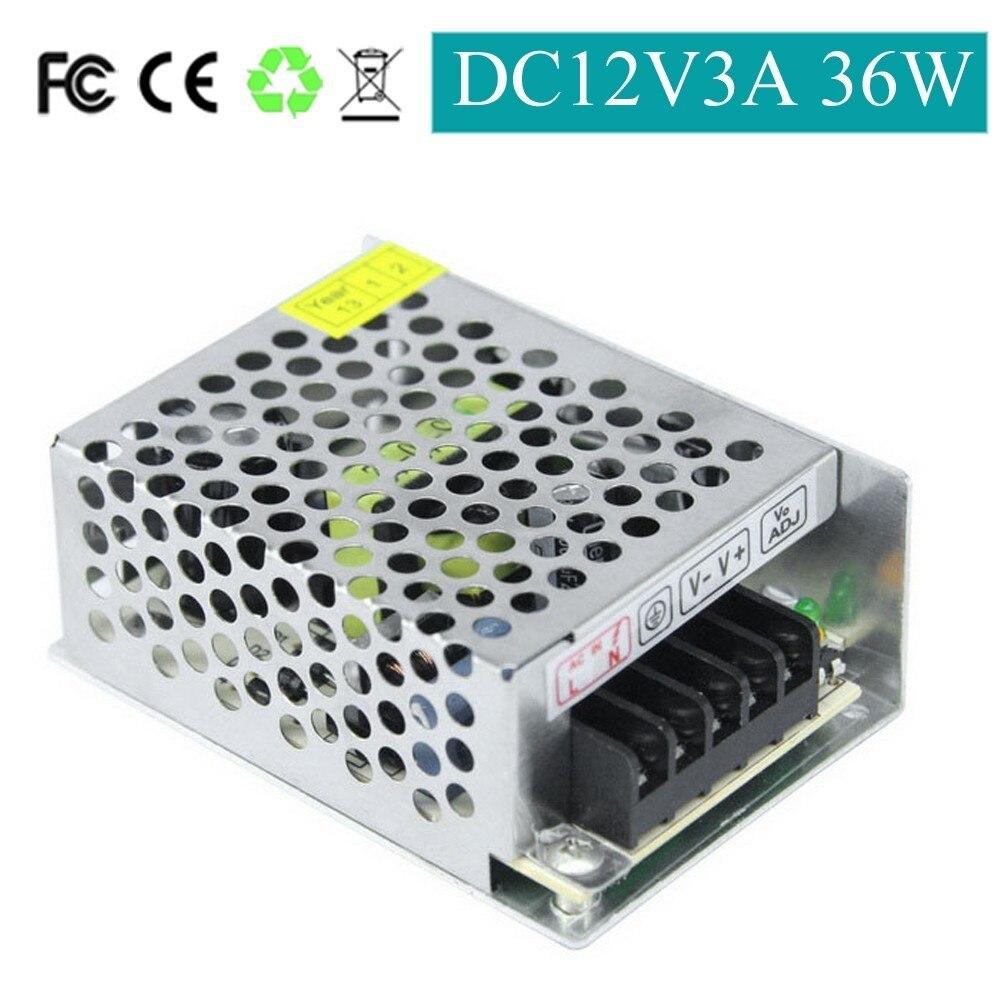 LieDao AC To DC 12V 3A 2A 36W 24W Switching Power Supply Source Transformer  AC 85V to 265V