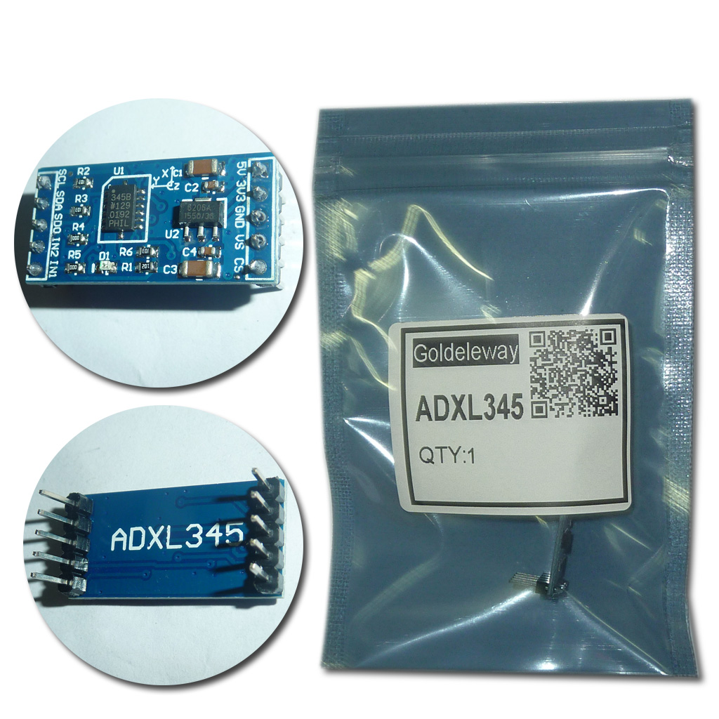 1pcs LOT ADXL345 3 axis Digital Gravity font b Sensor b font Acceleration Module Tilt font
