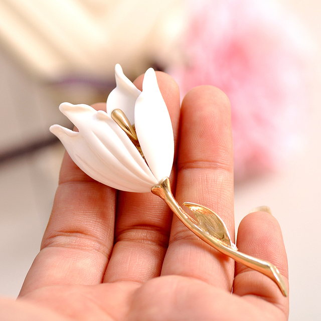 Di vendita di nuovo modo accessori commercio all'ingrosso di stile euramerican ragazza splendida spilla fiore di compleanno del partito di trasporto libero