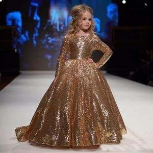 Image 3 - Vestidos dourados para meninas, vestidos elegantes para meninas, de baile, aniversário e festa 12 y