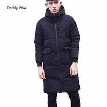 2017 Fashion Brand Men's Warm Jacket Windproof Casual Outerwear Thick Medium Long Coat Men Parka High Quality Parkas For Male