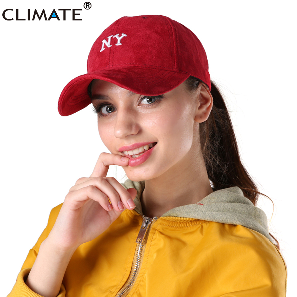 CLIMATE 2017 NY New York 3D Logo Suede Baseball Cap Men Women Adult New Brand Winter Autum Hip Hop Adjustable Hat Outdoor Cap new york b ny times bestseller