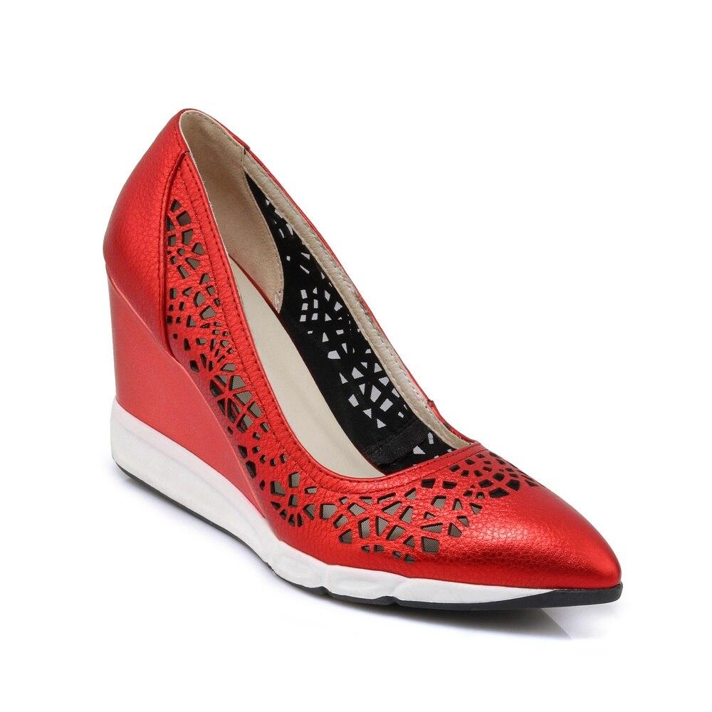 Ayakk.'ten Kadın Pompaları'de MORAZORA 2020 yeni varış hakiki deri ayakkabı kadın koyun derisi takozlar kadın ayakkabı pompaları cut çıkışları bayanlar yüksek topuklu parti ayakkabıları'da  Grup 2