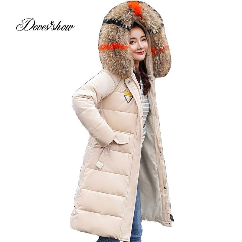 Fur Collar Winter   Down     Coat   Jacket Long Warm Loose Women Cotton-padded Casaco Feminino Abrigos Mujer Invierno Parkas Outwear 11