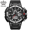 New SMAEL Brand Watch Dual Time Big Dial Men Watches S Shock Waterproof Digital Clock Men's Wristwatch relogio masculine WS1376