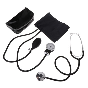 ZLROWR	Medical Blood Pressure Monitor Meter Stethoscope Cuff Aneroid Sphygmomanometer
