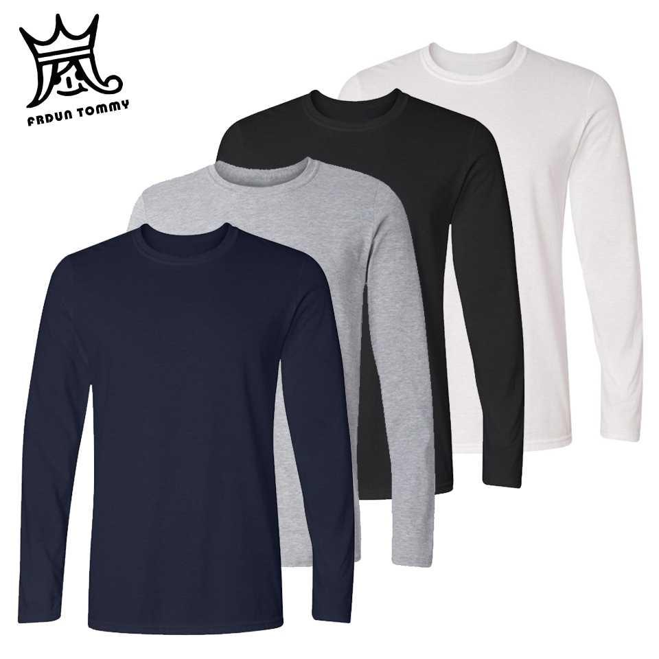 FRDUN トミー女性の綿の Tシャツ長袖黒、白ゲイリーカジュアル Tシャツファム女性のセクシーなトップスプラスサイズファッション服