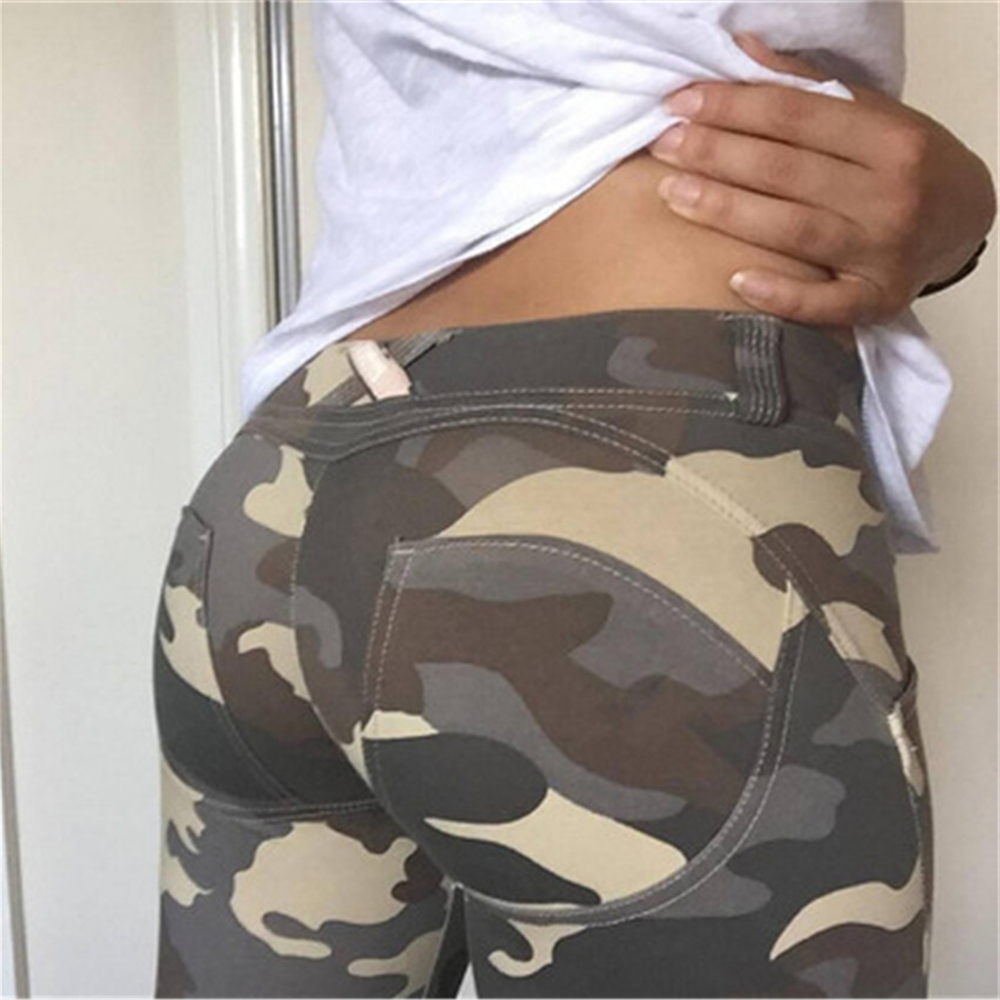 Image 5 - Sexy Workout Leggins High Waist Elastic Slim Pants Women Fitness Punk Trousers Camouflage For Printed  Sporting Casual Pants-in Leggings from Women's Clothing