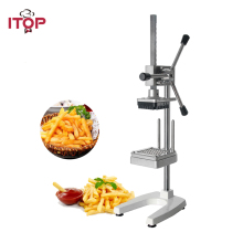 ITOP Manual Vertical Potato Chip Cutter Slicer Machine Aluminium Alloy French Fries Carrot